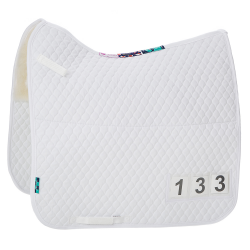 HiWither Half Wool Competition Number Saddlepad (SP18 DR)