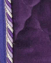 Purple Velvet with purple/lilac/silver braid