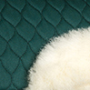 Bottle Green with Natural Wool