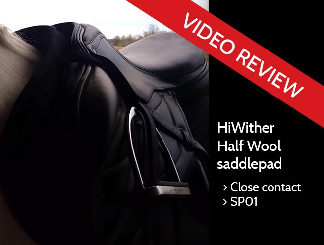 Watch this independent video review of our HiWither Half Wool saddlepad