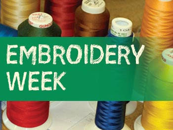 Embroidery week!